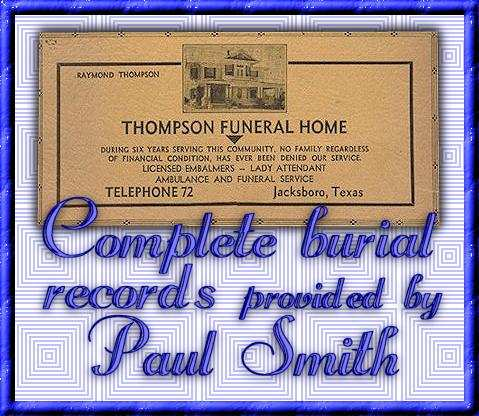Links To Funeral Records 1940 2004 From Jack County Texas