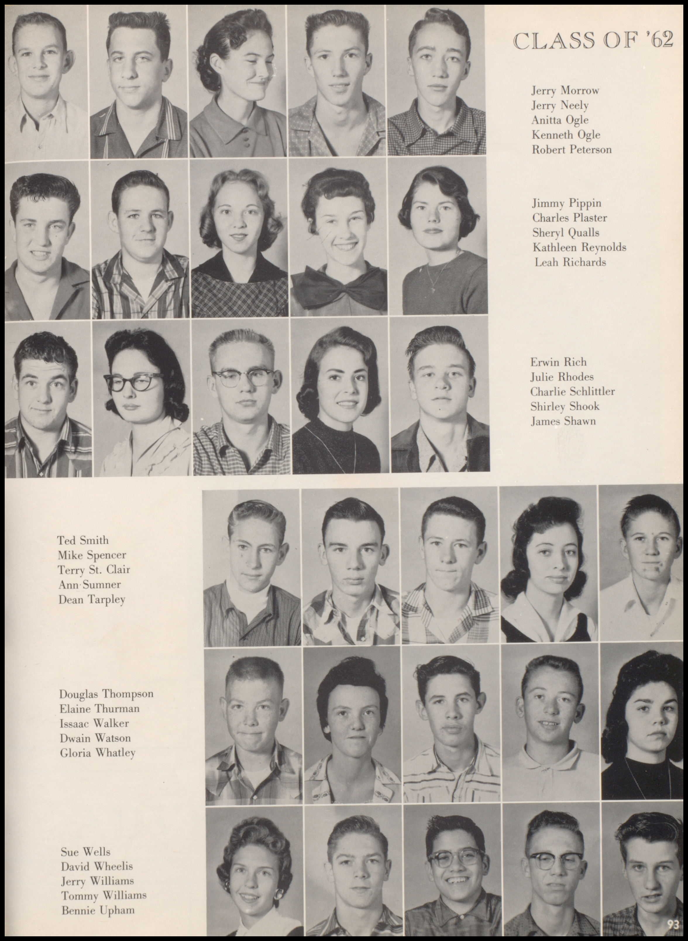 index of s q s for the jacksboro tx high school qualls roland freshman picture 1962 0091