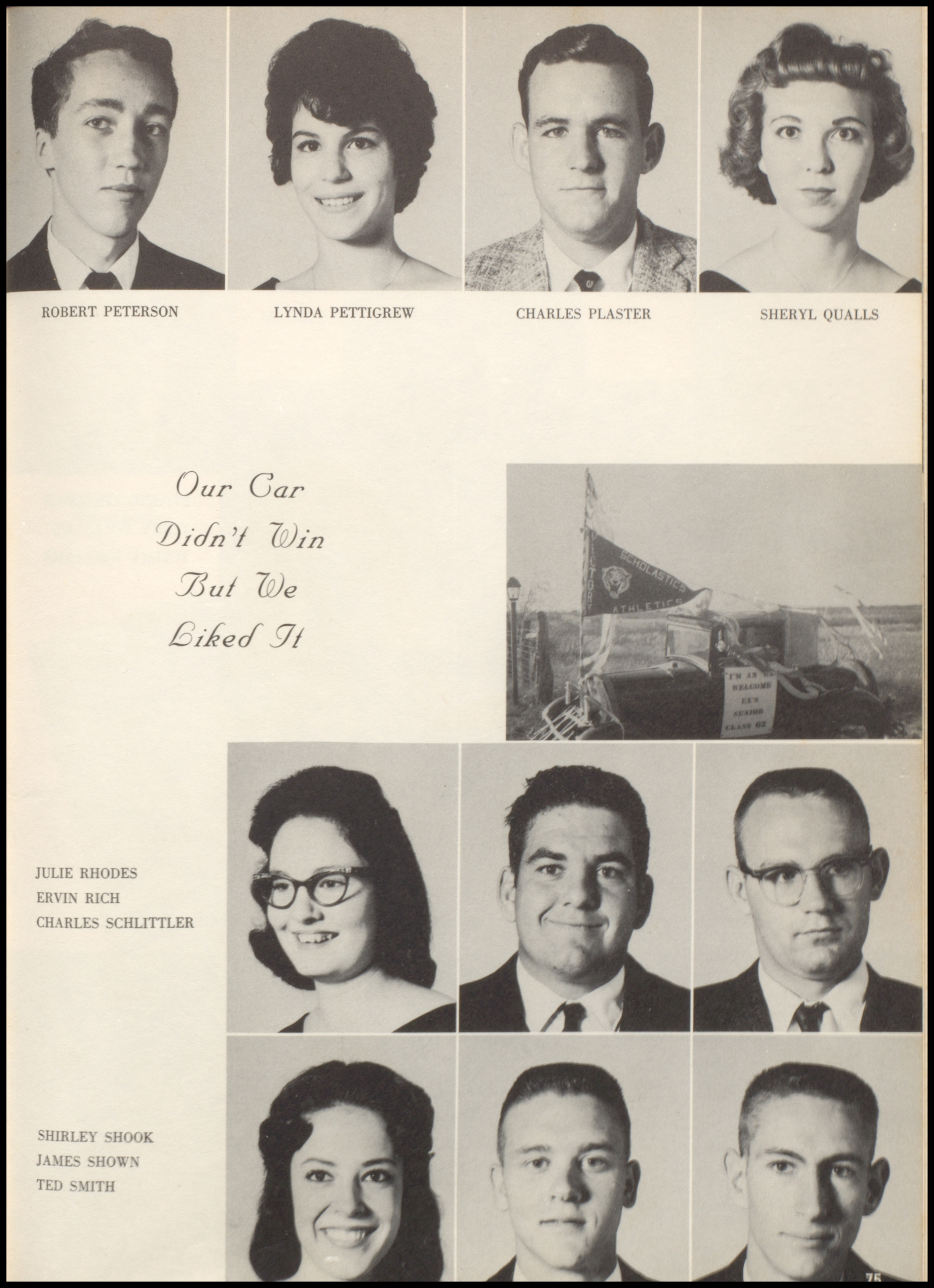 index of s q s for the jacksboro tx high school qualls sheryl senior picture 1962 0079